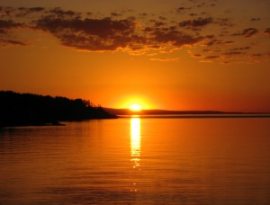 Sunset off Father Baraga's point. 6-12-13